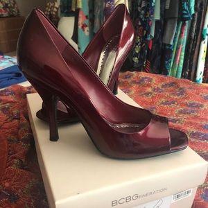 BCBG Generation Ruby Red Heels 7m